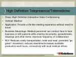 high definition telepresence telemedicine