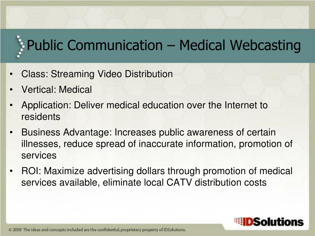Class: Streaming Video Distribution