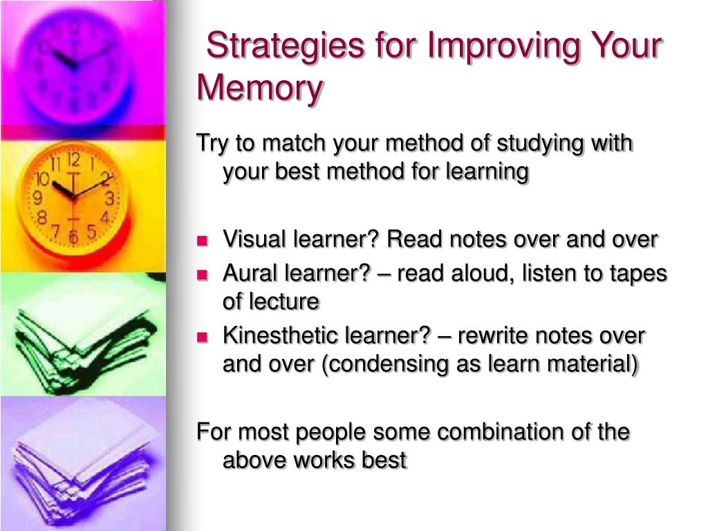 Strategies for Improving Your Memory
