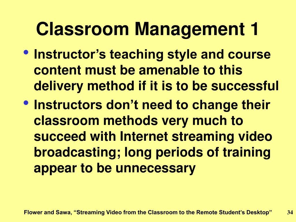 Classroom Management 1