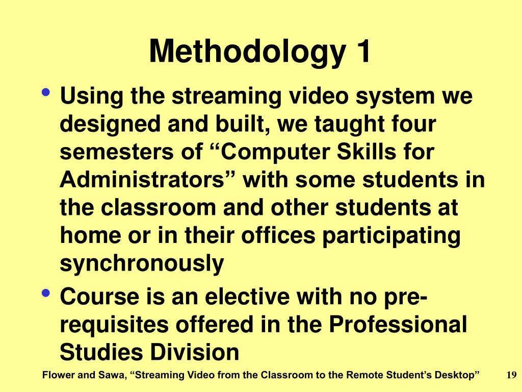 Methodology 1