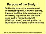purpose of the study 1