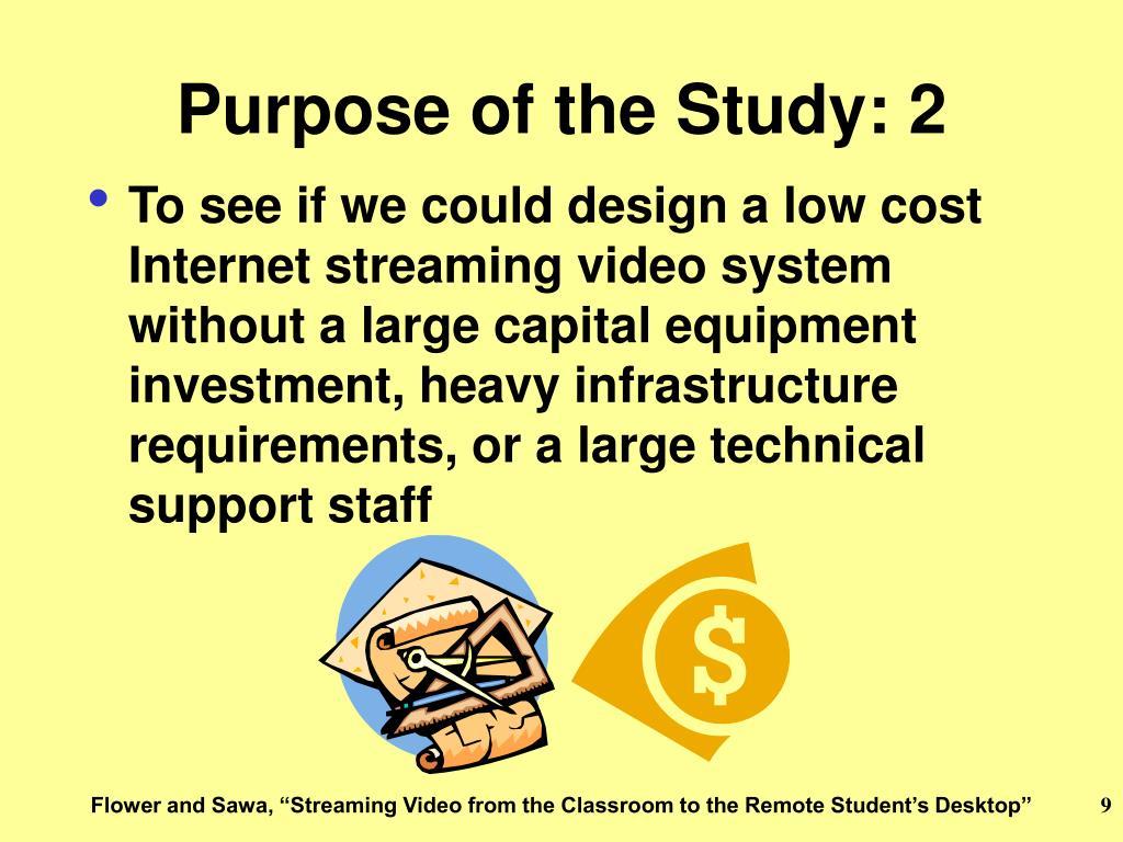 Purpose of the Study: 2