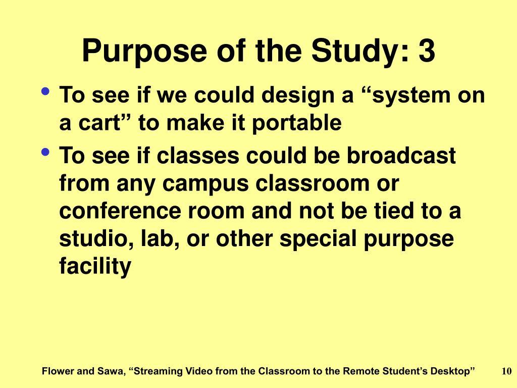 Purpose of the Study: 3