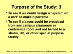purpose of the study 3