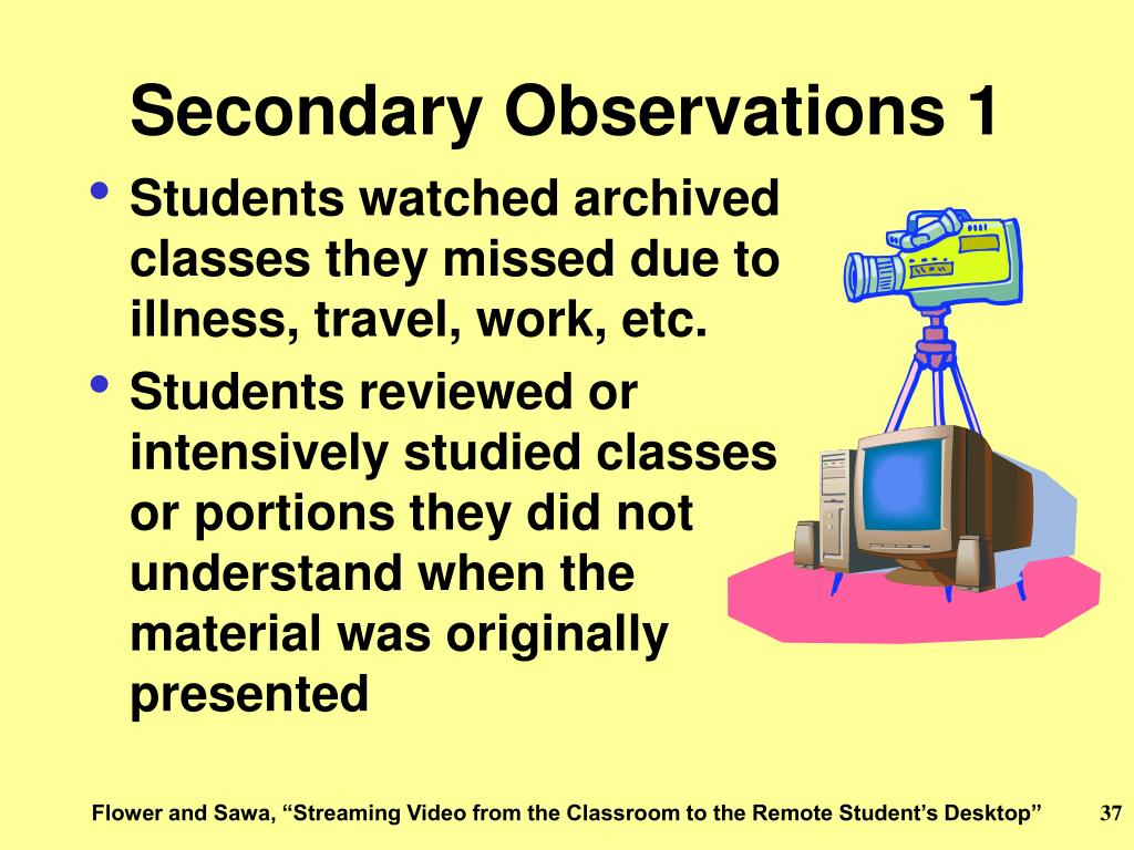 Secondary Observations 1