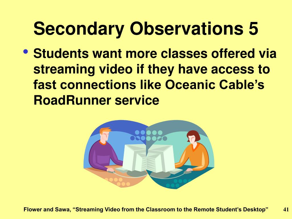 Secondary Observations 5