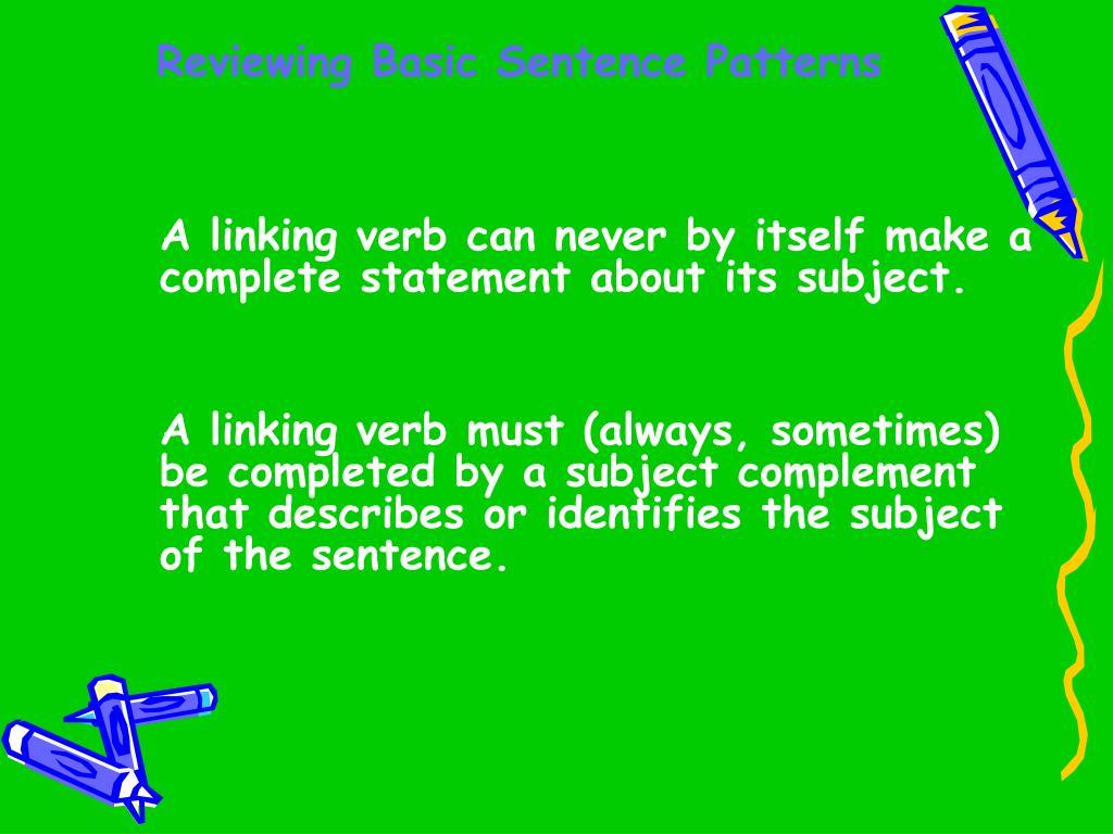 Reviewing Basic Sentence Patterns