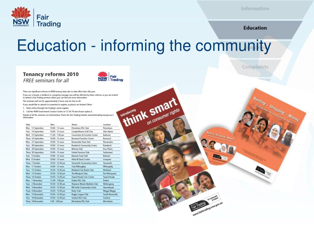 Education - informing the community