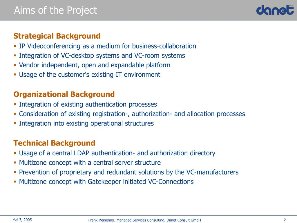 Aims of the Project