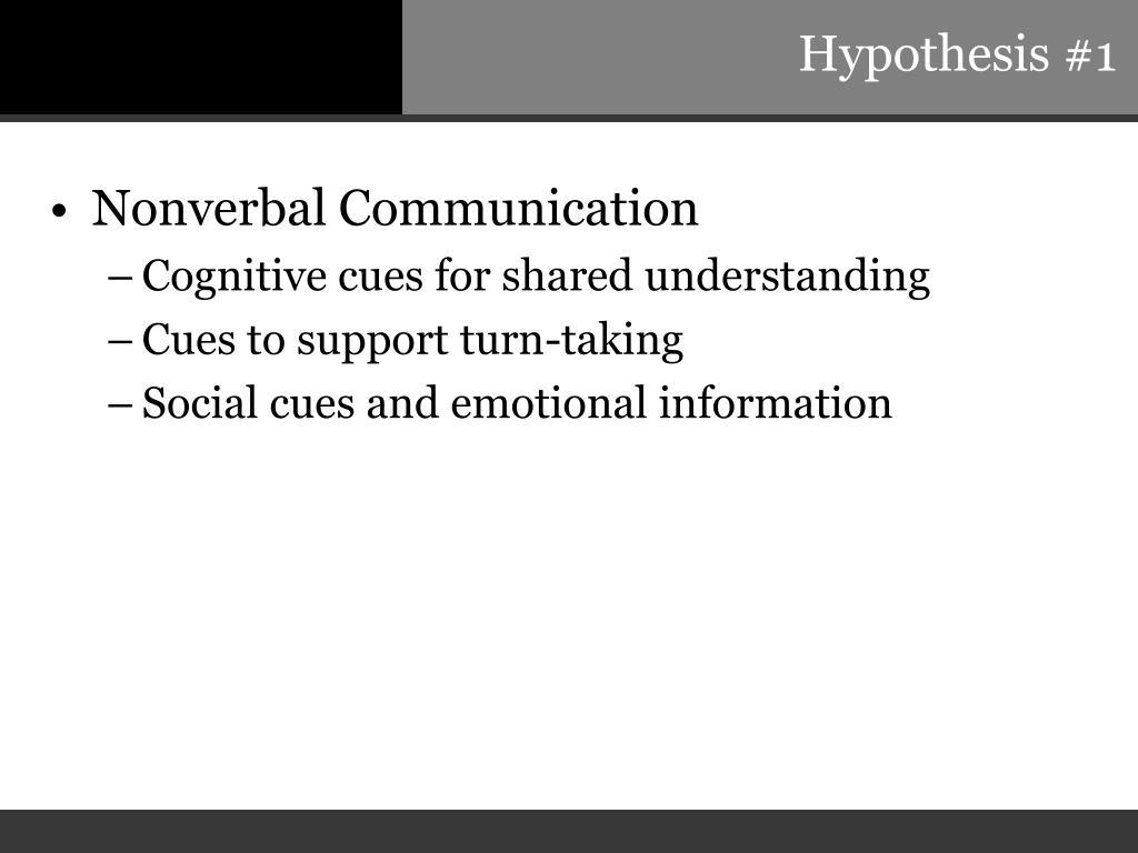 Hypothesis #1