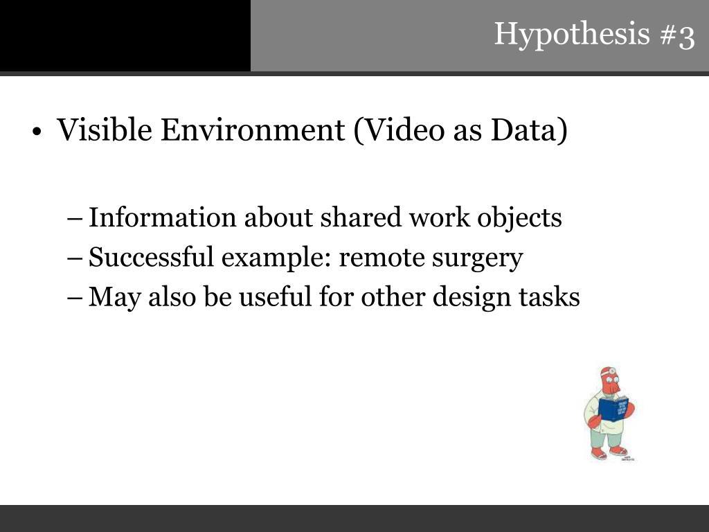 Hypothesis #3
