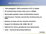 key features specifications