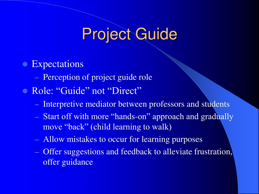 Project Guide