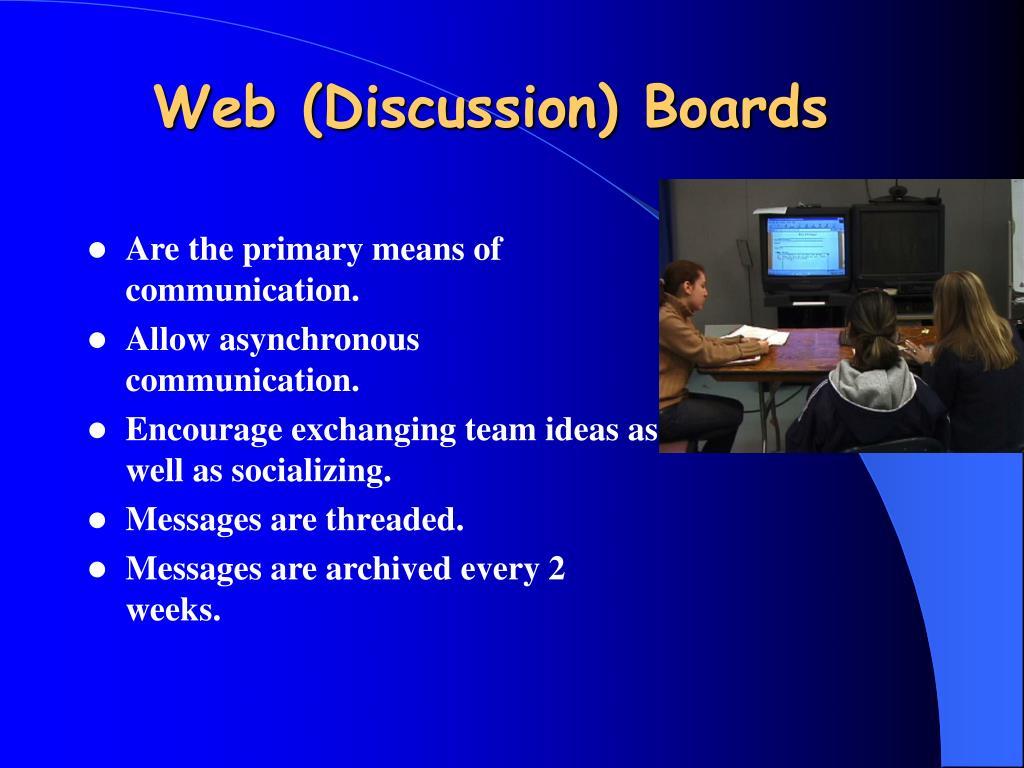 Web (Discussion) Boards