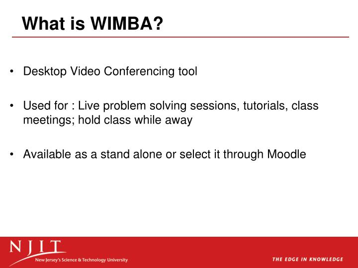 What is wimba