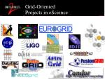 grid oriented projects in escience