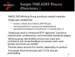 sample nmi edit process directories