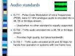 audio standards