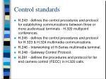 control standards43