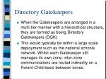 directory gatekeepers