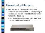 example of gatekeepers