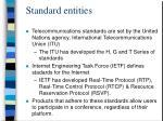 standard entities