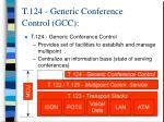 t 124 generic conference control gcc