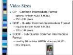 video sizes33