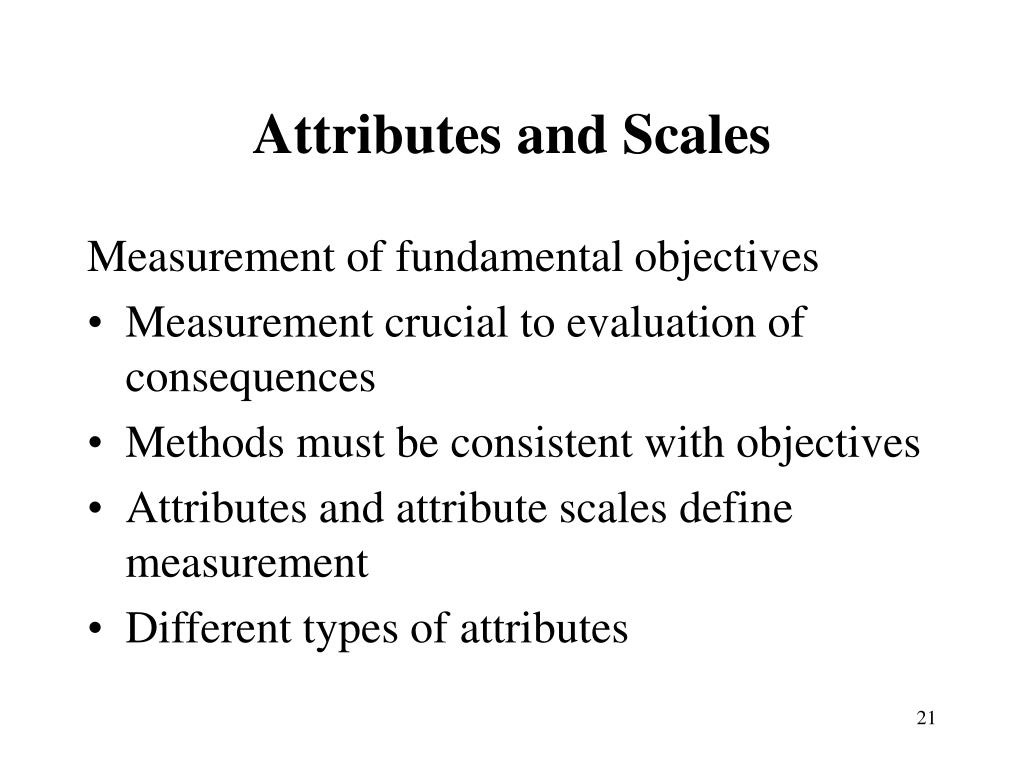 Attributes and Scales