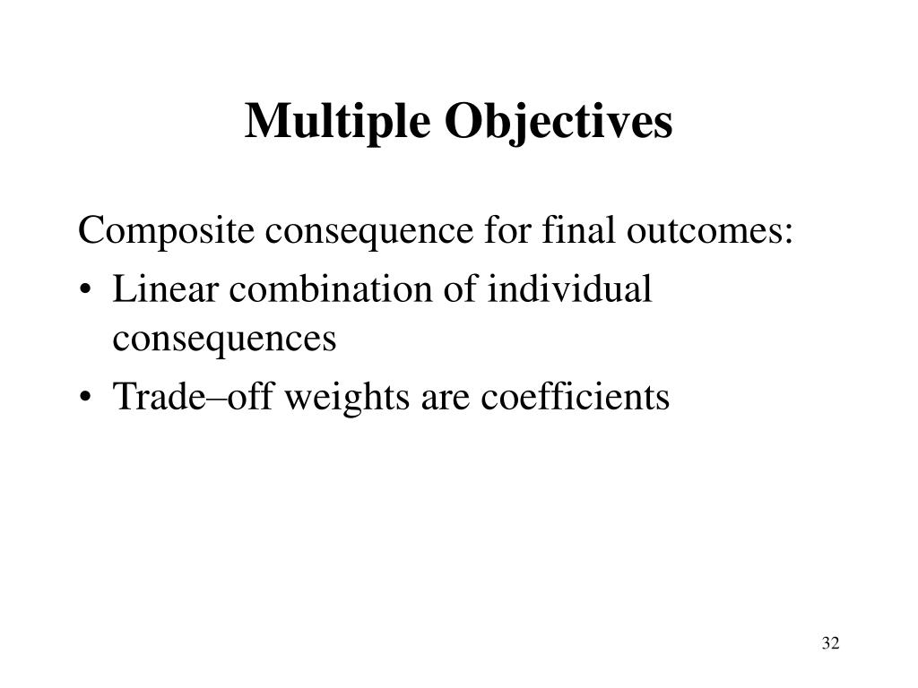 Multiple Objectives