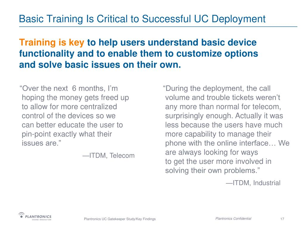 Basic Training Is Critical to Successful UC Deployment
