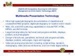 multimedia presentation technology