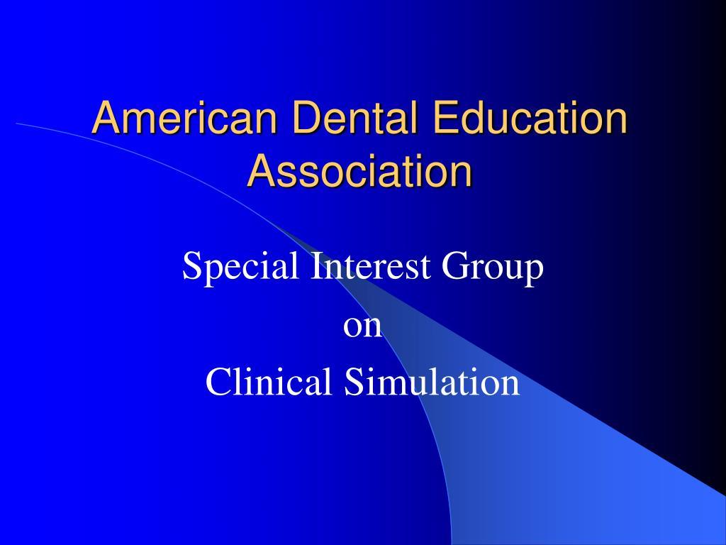american dental education association l.