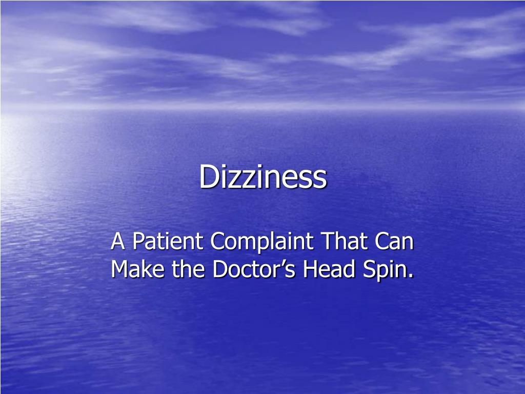dizziness l.