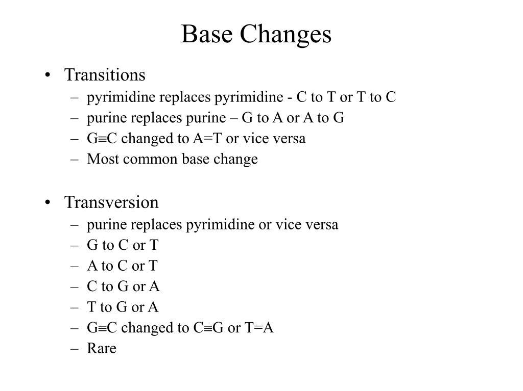 Base Changes