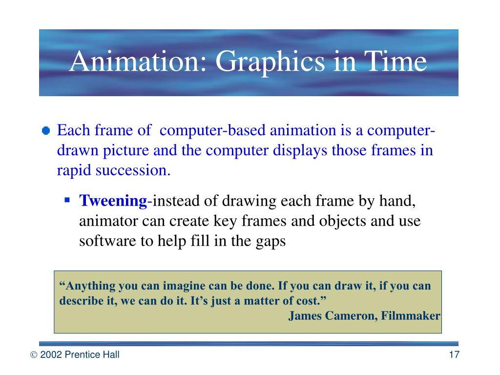 Animation: Graphics in Time
