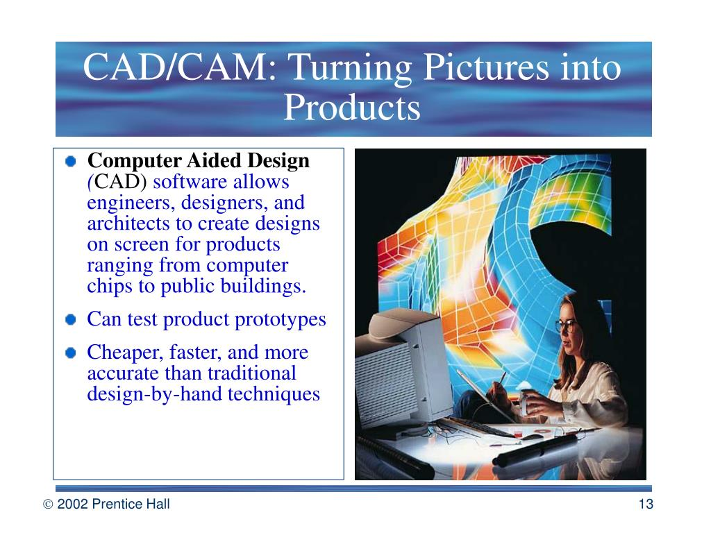 CAD/CAM: Turning Pictures into Products