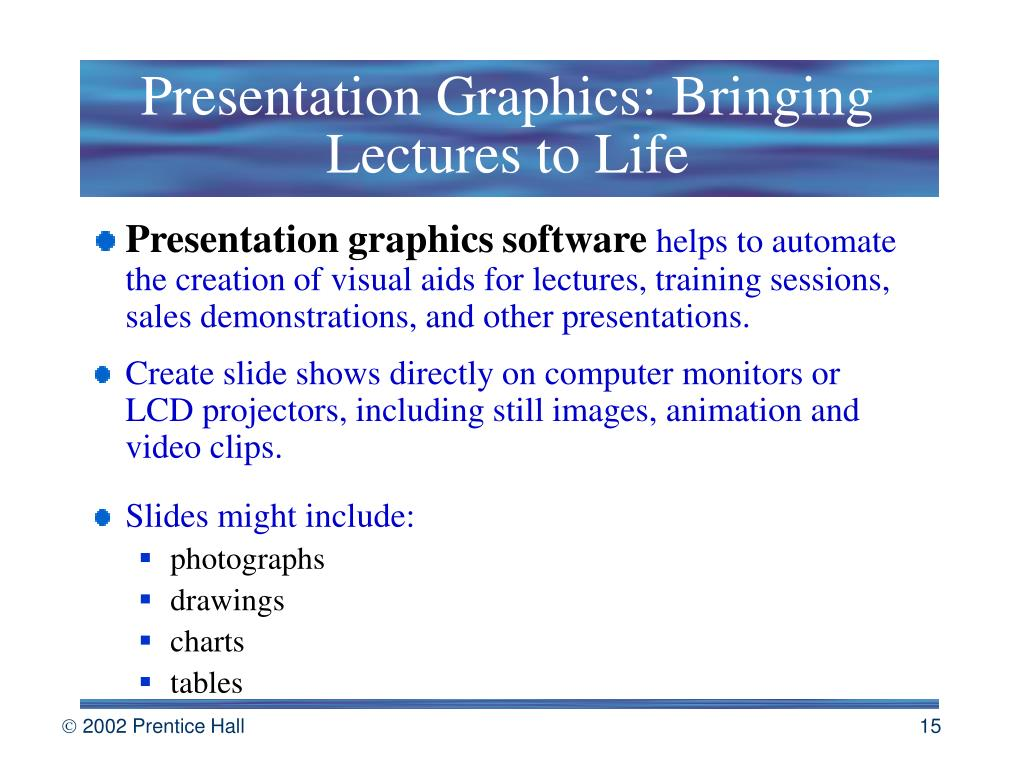 Presentation Graphics: Bringing Lectures to Life