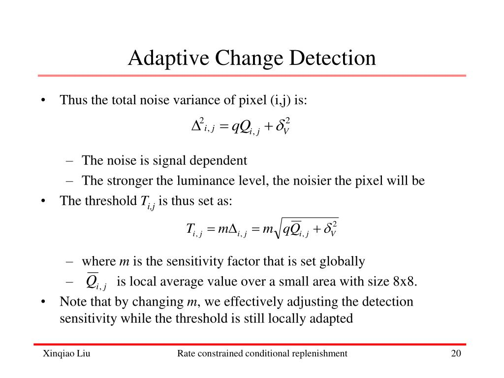 Adaptive Change Detection