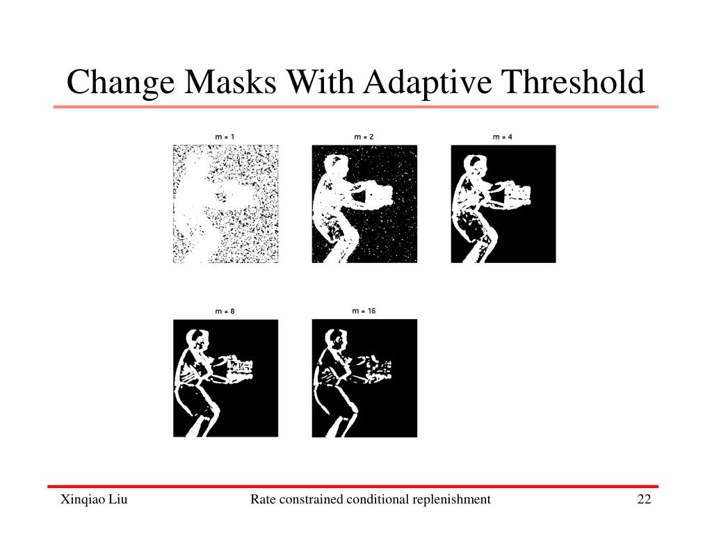 Change Masks With Adaptive Threshold