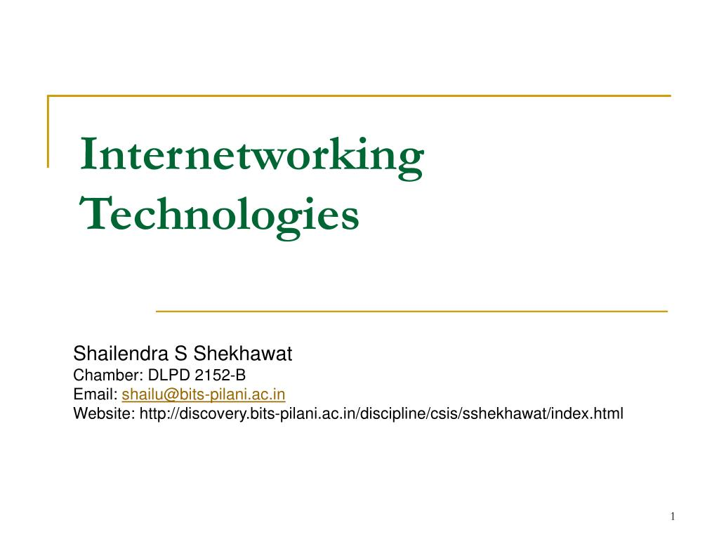 internetworking technologies l.