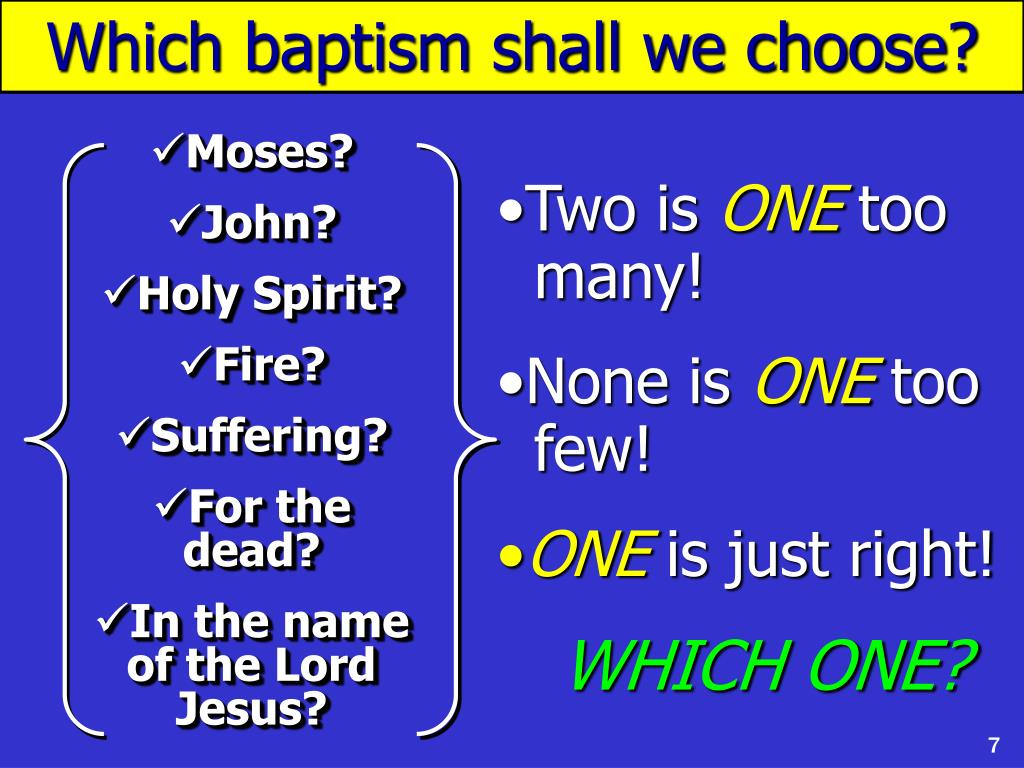 Which baptism shall we choose?