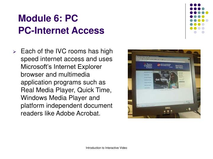 Module 6 pc pc internet access
