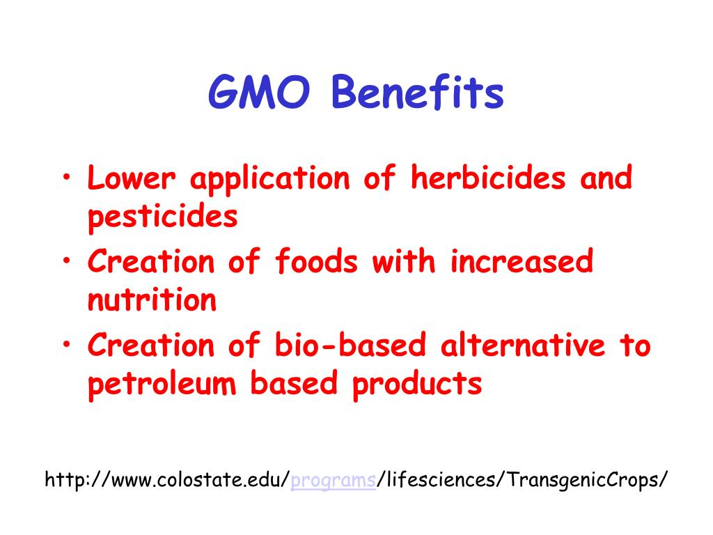 GMO Benefits