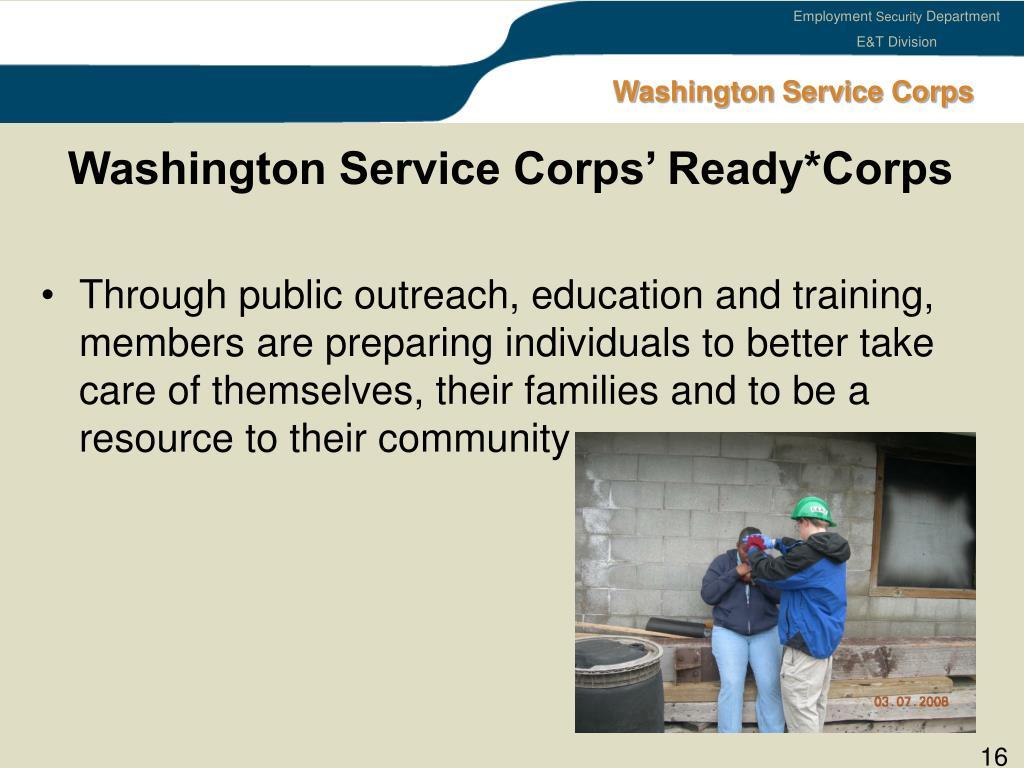 Washington Service Corps' Ready*Corps