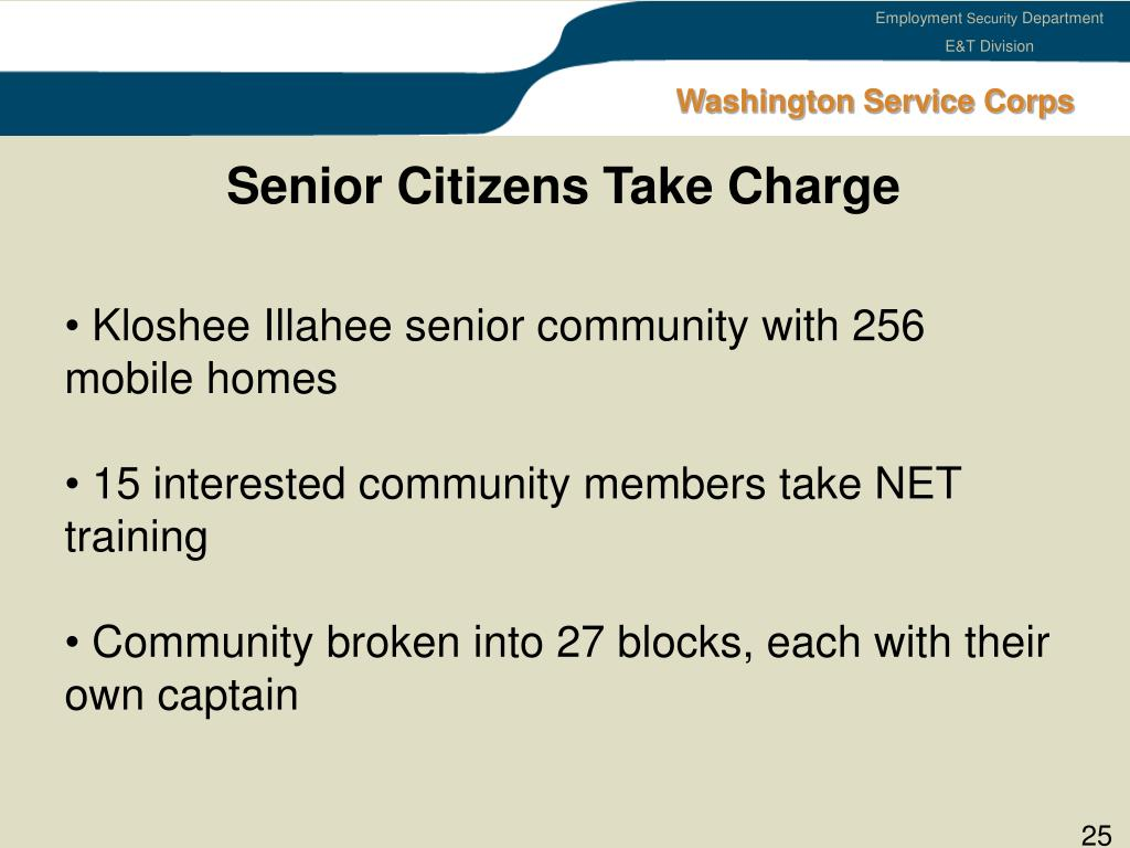 Senior Citizens Take Charge