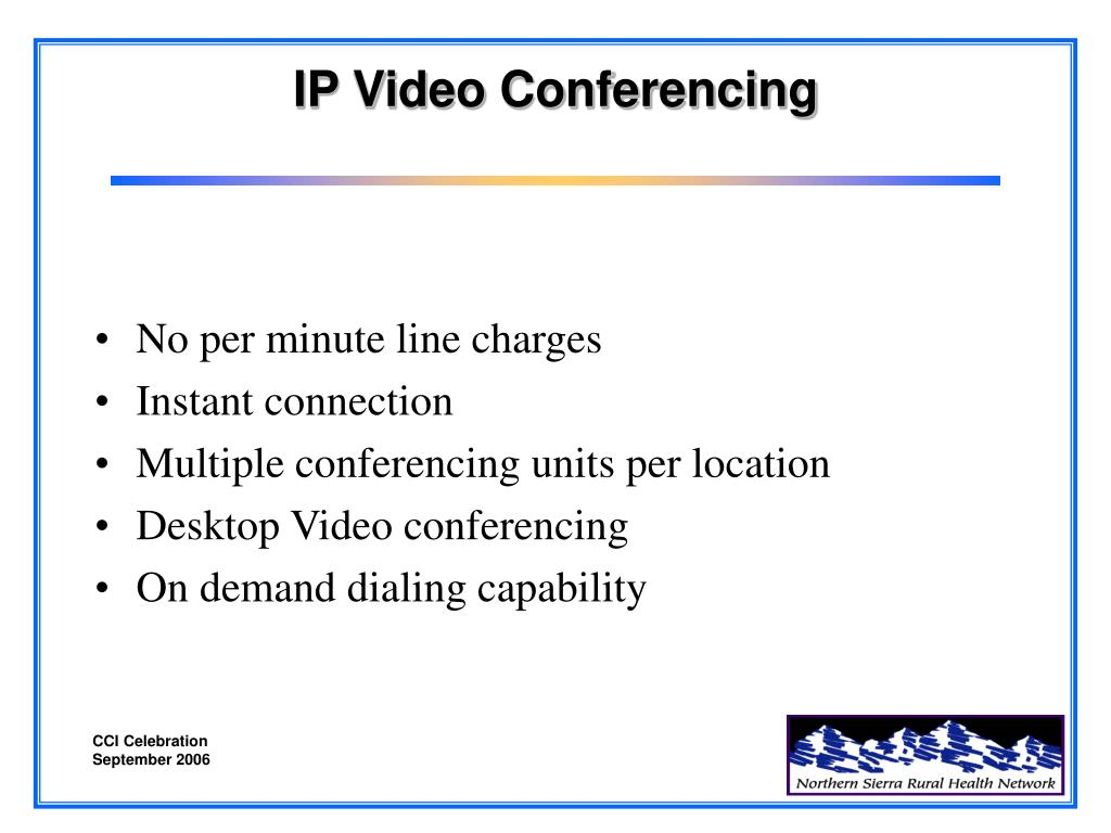 IP Video Conferencing