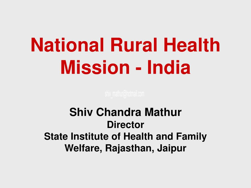 national rural health mission india l.