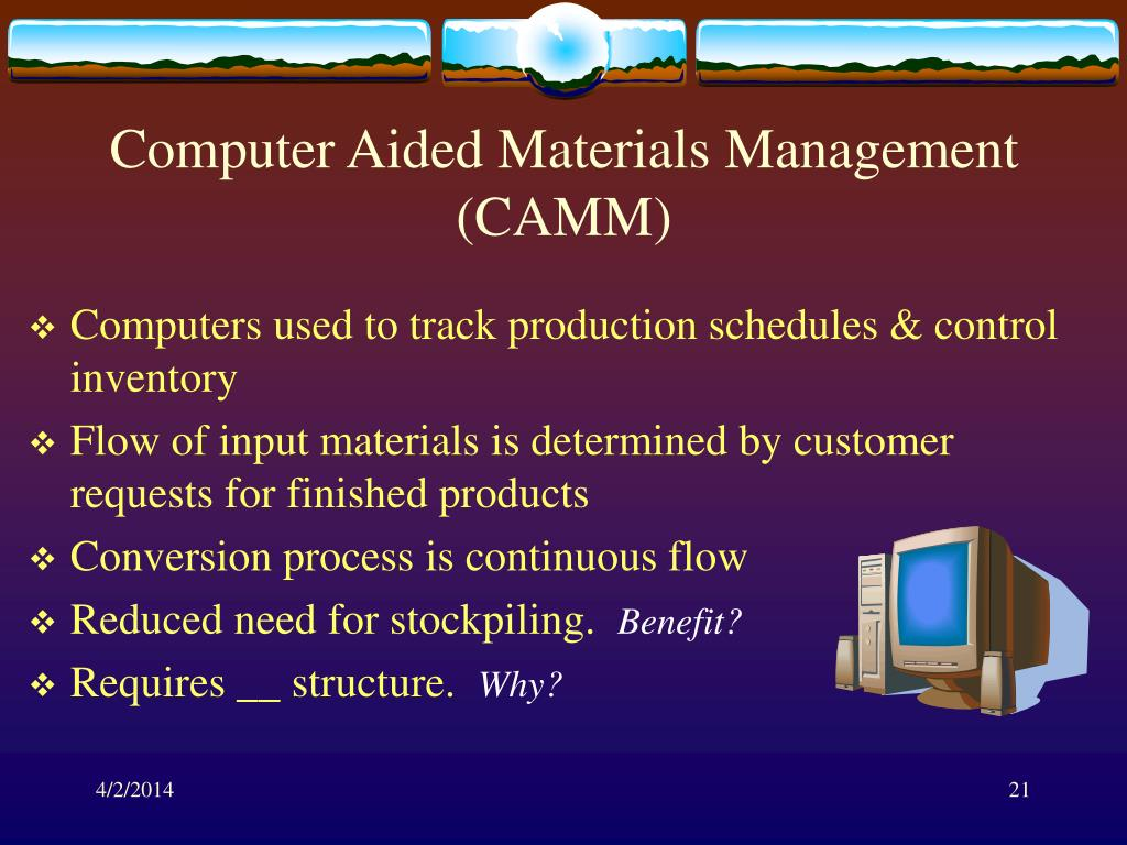 Computer Aided Materials Management (CAMM)